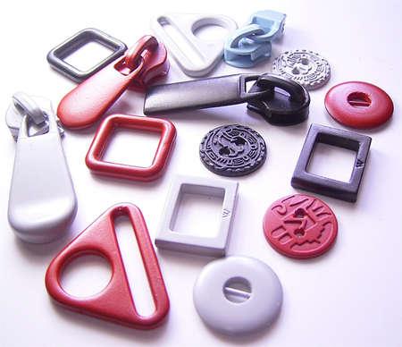 buckles: Zipper Buttons & Buckles Stock Photo