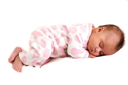 napping: sweet newborn baby peaceful and asleep