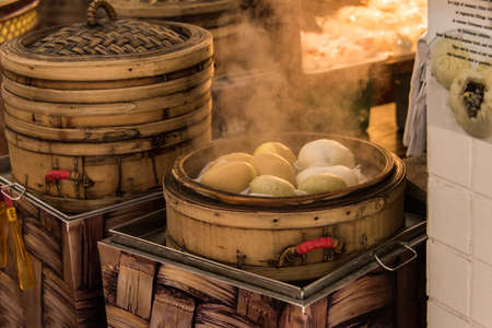 buns: steamed buns Stock Photo