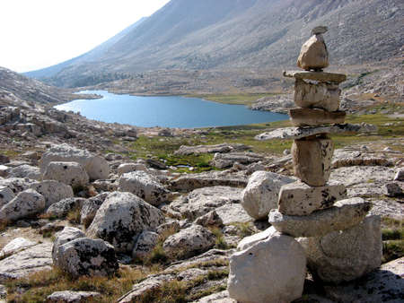 inyo national forest: Cairn in Inyo National Forrest Stock Photo