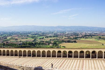 assisi: ASSISI, ITALY - SEPTEMBER 4, 2016: Basilica di San Francesco in Assisi, Italy