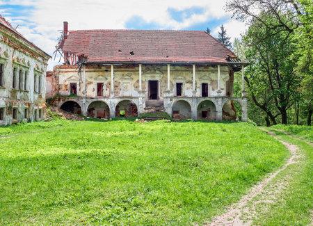 Pomoriany Castle, a ruined castle in the village of Pomoriany, Zolochiv District, Lviv Oblast, Ukraine