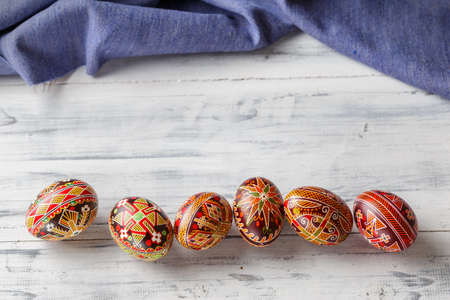 Pysanky, Ukrainian Easter eggs decorated with wax-resist dyeing technique, traditional for Eastern European countries