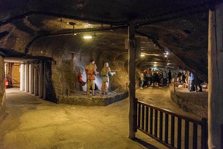 WIELICZKA, POLAND - JUNE 3, 2019: Wieliczka Salt Mine, UNESCO World Heritage Site in the town of Wieliczka, southern Poland