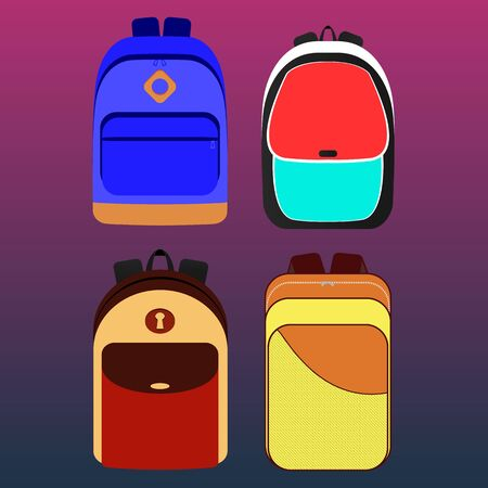 yellow adventure: backpack Illustration