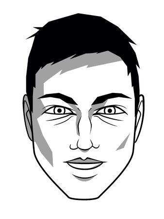 man face profile: man face profile