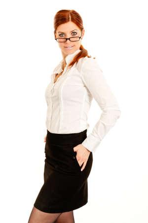 Business-Frau mit Brille suchen sexy