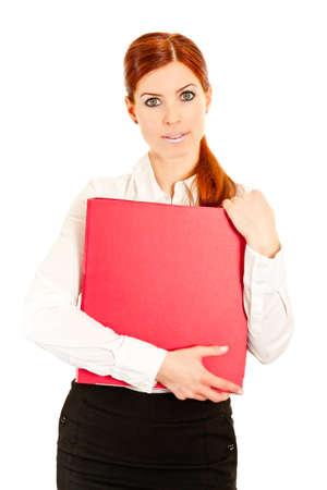 Business-Frau mit Ring rot-Datei  Lizenzfreie Bilder