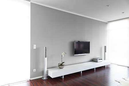 Modern living-room with TV and hifi equipment Stock Photo - 14357874