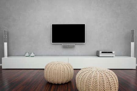 Modern Living Room Interior mit Heim-Entertainment
