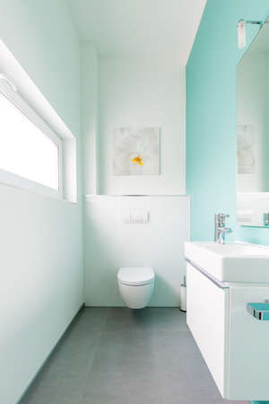 Modern guest toilet in a family home Stock Photo