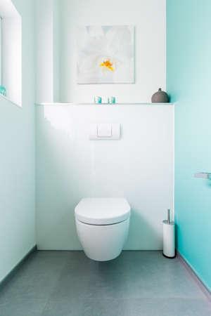 Modern guest toilet in a family home Standard-Bild
