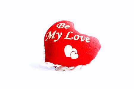 私の愛はハート飾り綿とレース製。理想的なギフトは、赤と白の色です。