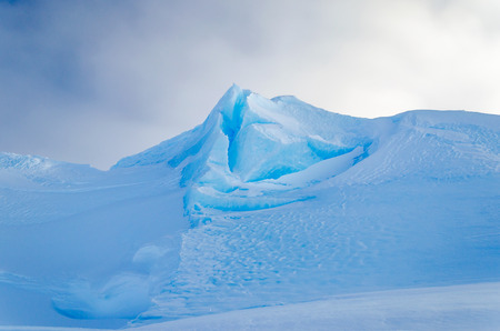 weddell: Blue Ice Mountain Peak Stock Photo