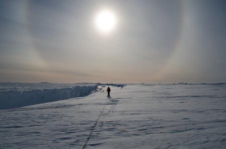 roped: Adventures in Antarctica Stock Photo