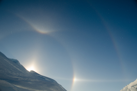 Sun Dogs and Halo. Antarctica