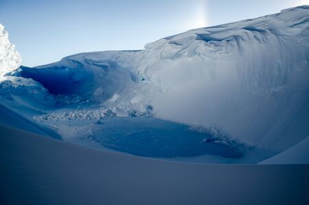 weddell: Secret Blue Ice Lake. Antarctica Stock Photo