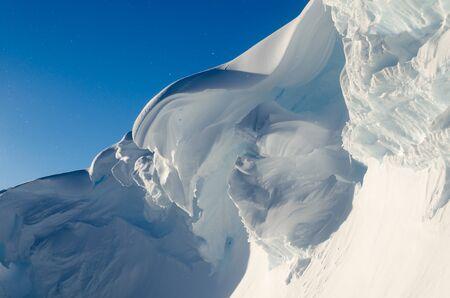 brunt: Giant Ice Cornice. Antarctica
