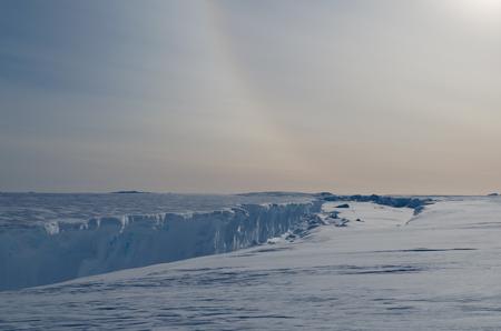 brunt: Chasm at the McDonald Ice Rumples. Antarctica