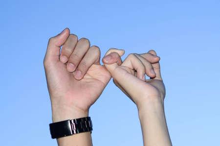 coordinacion: La coordinaci�n Finger pareja juntos Foto de archivo