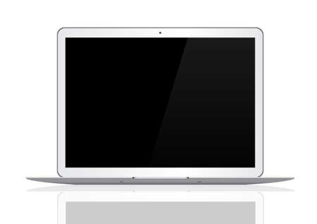 notebook computer: Computer notebook on white background.