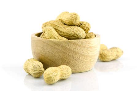 monkey nut: peanut on isolate background, food and vegetarian Stock Photo