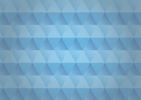 Abstract image of a polygon with blue background and texture design.