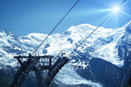 alpinism: Chamonix ski resort