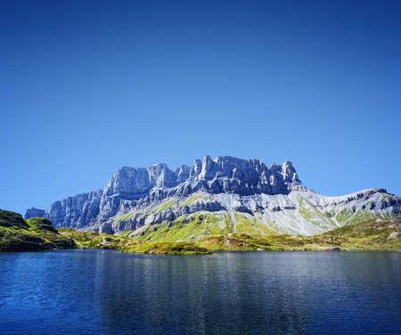 non urban: Mountain lake in French Alps