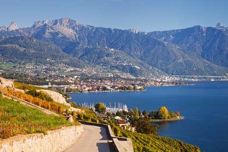 montreux: Lavaux vineyards at Geneva Lake