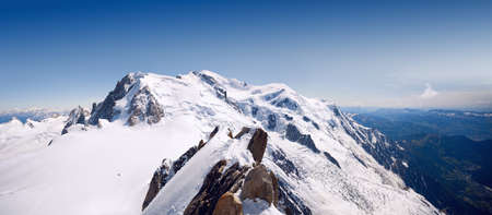 courmayeur: Panorama of Mt. Mont Blanc in French Alps