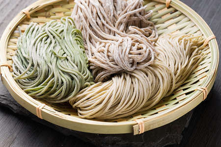 Japanese traditional buckwheat soba noodle