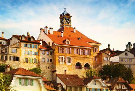 Old central part of Murten (Switzerland)