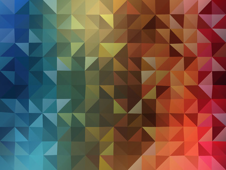 colorfull: Abstract 2D triangle geometric colorfull background flat style Illustration