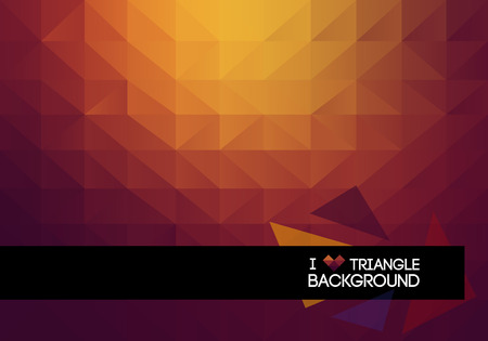 Abstract 2D triangle geometric warm background flat style