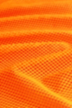 Abstract Orange waves background with dots pattern