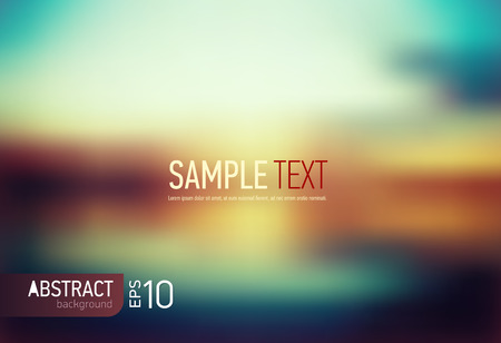 Abstract blurred Background with headline - vector illustration Çizim