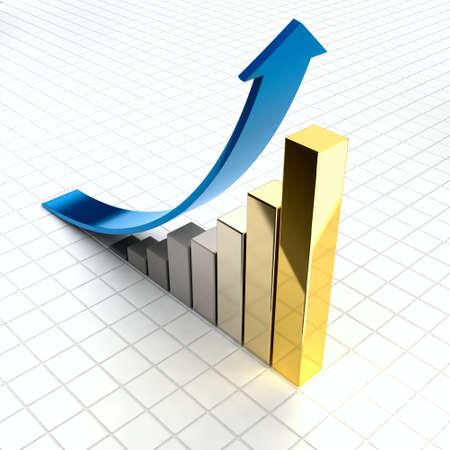 gain: Business graph Stock Photo