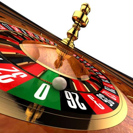 Casino Roulette on white photo