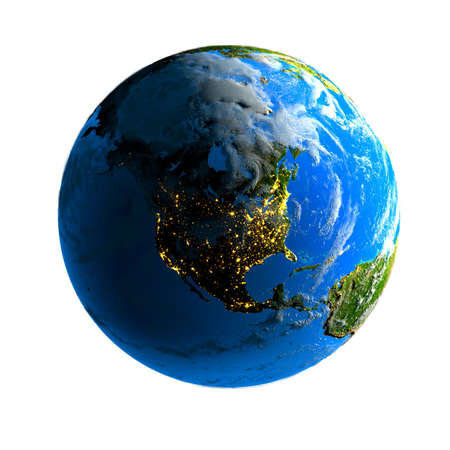 Earth. Day and night. Stock Photo - 6054024