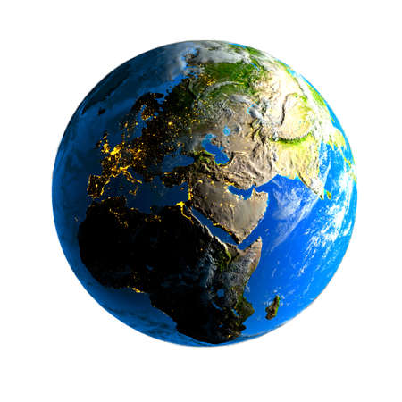 Earth. Day and night. Stock Photo - 6047638