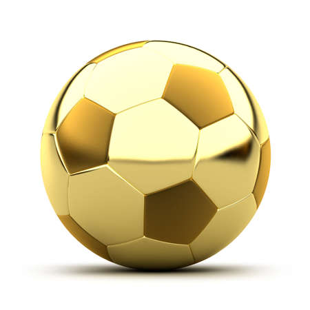 world ball: Golden soccer ball