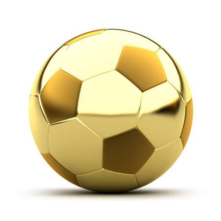 soccer balls: Golden soccer ball