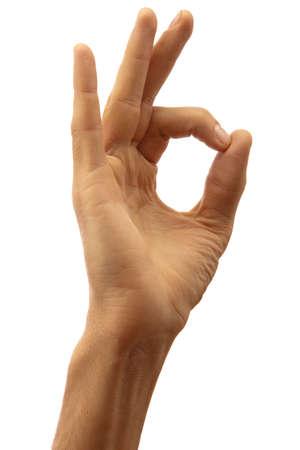 OK gesture photo