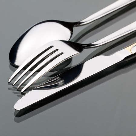 couteau fourchette cuill�re: Couteau, la fourchette, la cuill�re Banque d'images