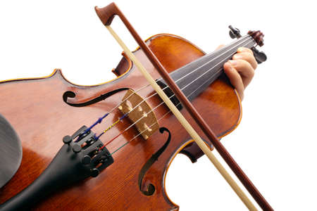 Photo violin made with the camera angle view violinist
