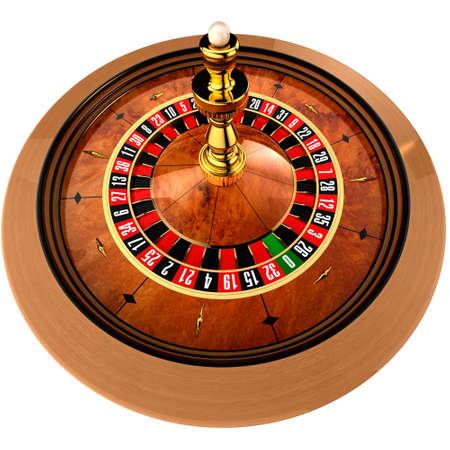 rueda de la fortuna: Ruleta, construida en programa tridimensional, sobre un fondo blanco