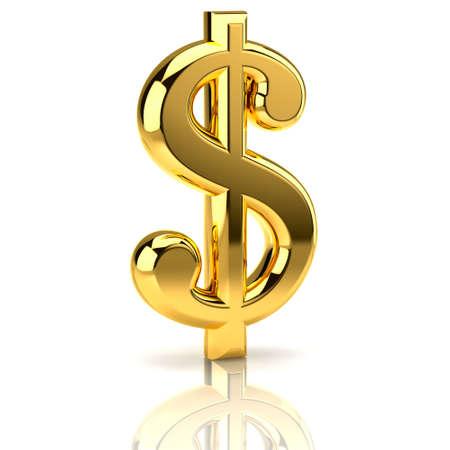 signos de pesos: El signo del d�lar, construido en programa tridimensional y se presentan como un objeto de oro