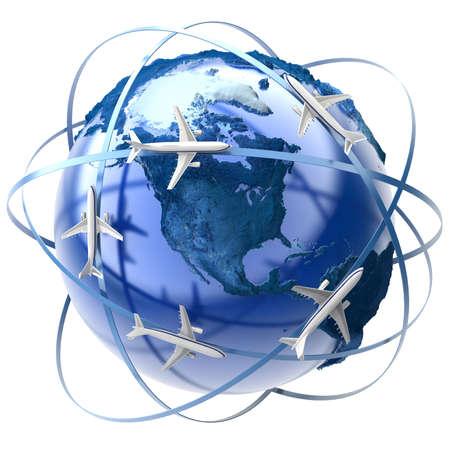 The metaphor of international air travel around the globe