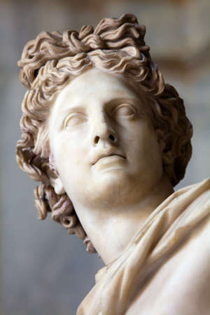 apollo: This sculpture is marble copy of lost bronze original made by Greek sculptor Leochares. Exposed in Vatican Museum, Rome, Italy